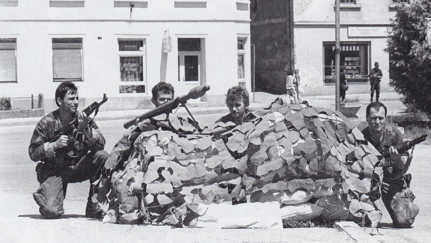 Srpanj 91. -obrambeno nadzorni punkt Risova na Unskom mostu