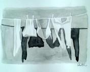 Donje rublje, Ivana Ožetski, akvarel