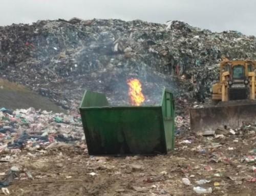 Na odlagalištu Tarno simuliran požar na odlagalištu
