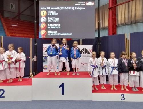 Srebro i tri bronce za Karate klub Mladost iz Ivanić-Grada