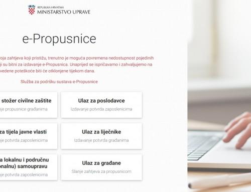 Korak po korak – uputstva za slanje zahtjeva za e-propusnice