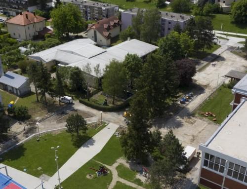 Radovi na uređenju prostora oko srednje i osnovne škole bliže se kraju